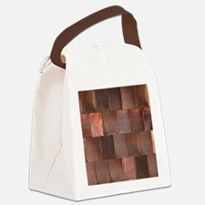 Distressed Copper Metal Woven Til Canvas Lunch Bag