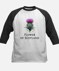 Flower of Scotland Kids Baseball Jersey