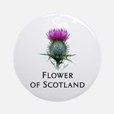 Flower of Scotland Ornament (Round)
