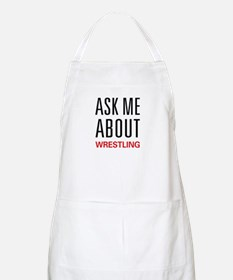 Ask Me About Wrestling BBQ Apron