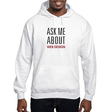 Ask Me Web Design Hooded Sweatshirt