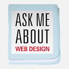 Ask Me Web Design baby blanket