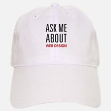 Ask Me Web Design Baseball Baseball Cap