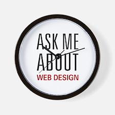 Ask Me Web Design Wall Clock