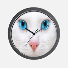 White Cat Wall Clock