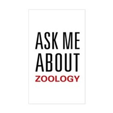 Ask Me Zoology Rectangle Decal