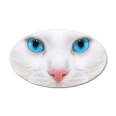 White Cat Wall Decal