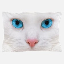 White Cat Pillow Case