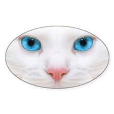 White Cat Decal