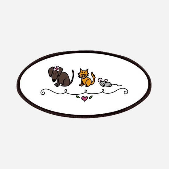 Cat Mouse Dog Friends Animals Pets Patches