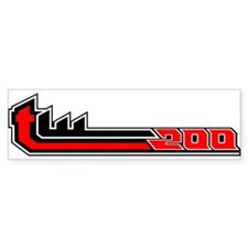 TW200 white Bumper Bumper Sticker