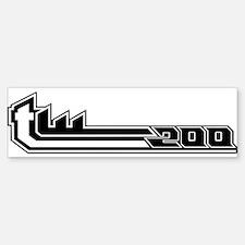 TW200 white Bumper Bumper Bumper Sticker