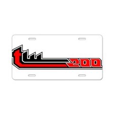 TW200 white Aluminum License Plate