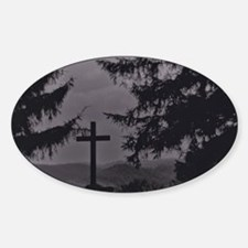 Cross in B & W Decal