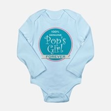 100% Pop's Girl Long Sleeve Infant Bodysuit