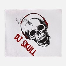Dj Skull-2 Throw Blanket