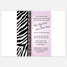 Animal Print - Zebra Wedding Invitations Invitatio