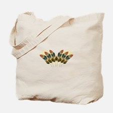 Fall Color Feathers Tote Bag
