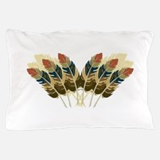 Fall Color Feathers Pillow Case