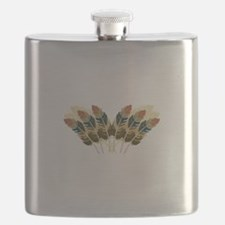 Fall Color Feathers Flask