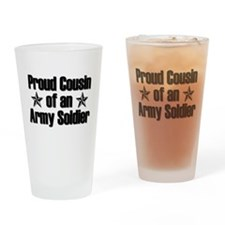 Proud Army Cousin Drinking Glass