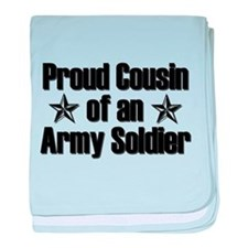 Proud Army Cousin baby blanket