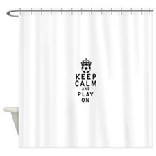 Cute Keep calm cheer Shower Curtain