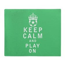 Keep Calm and Play On Throw Blanket