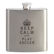 Keep Calm and Play Soccer Flask