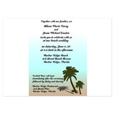 Palms at the Beach Wedding Invitations Invitations