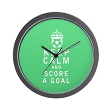 Keep Calm and Score a Goal Wall Clock