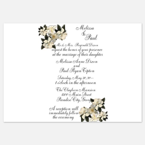 Magnolias Wedding Invitations Invitations