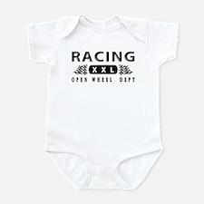 Open Wheel Racing Infant Bodysuit