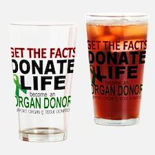 Transplant Awareness Drinking Glass