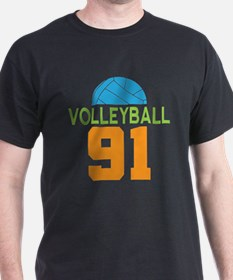 Volleyball player number 91 T-Shirt