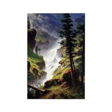 Rocky Mountain Waterfall Rectangle Magnet