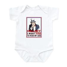 Hillary Kiss My Ass Infant Bodysuit