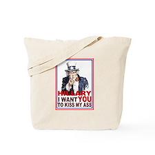 Hillary Kiss My Ass Tote Bag
