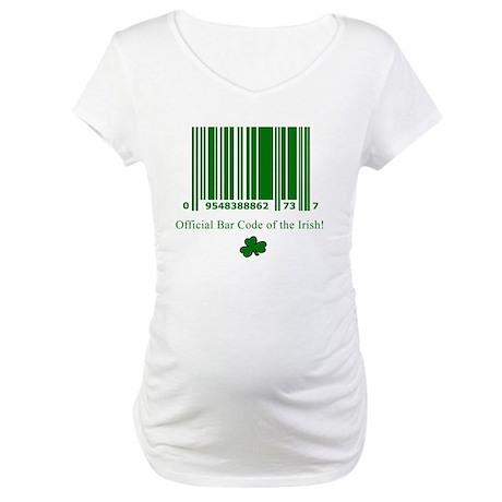 Irish Bar Code Maternity T-Shirt