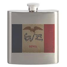 Iowa State Flag VINTAGE Flask