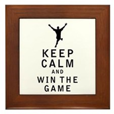 Keep Calm and Win The Game Framed Tile