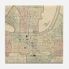 Vintage Map of Nashville Tennessee (1 Tile Coaster