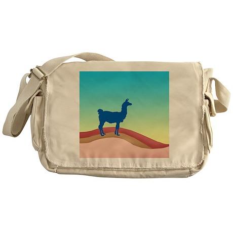 Sunrise Hills Llama sq xl Messenger Bag
