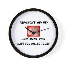 HEY PRO-CHOICE Wall Clock