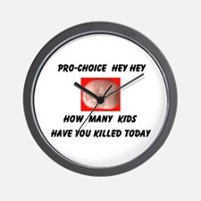 HEY PRO-CHOICE Wall Clock