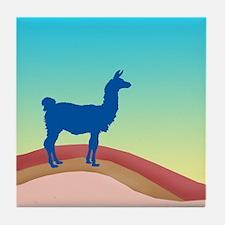 Sunrise Hills Llama sq xl Tile Coaster