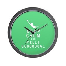 Keep Calm and YELLS GOOOOOOAL Wall Clock