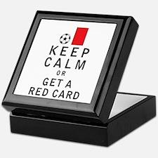Keep Calm or Get a Red Card Keepsake Box