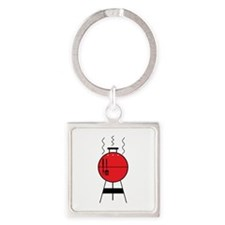 Red BBQ Grill Keychains