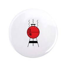 """Red BBQ Grill 3.5"""" Button (100 pack)"""